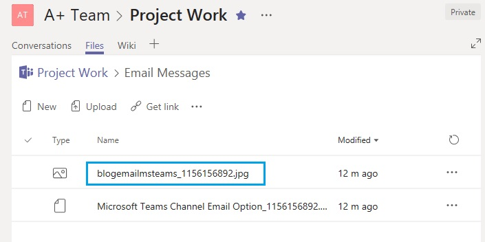 Email attachments in Email Messages folder